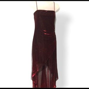 New high low red/black dress